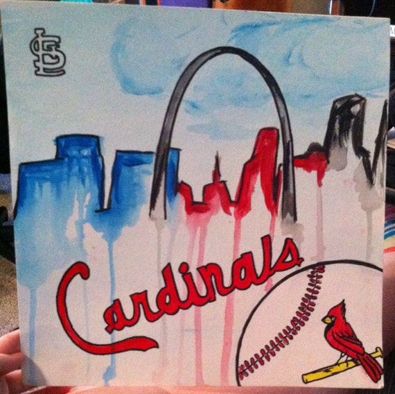 St Louis Cardinals Fan Art Watercolor Painting Cardinals Home Decor