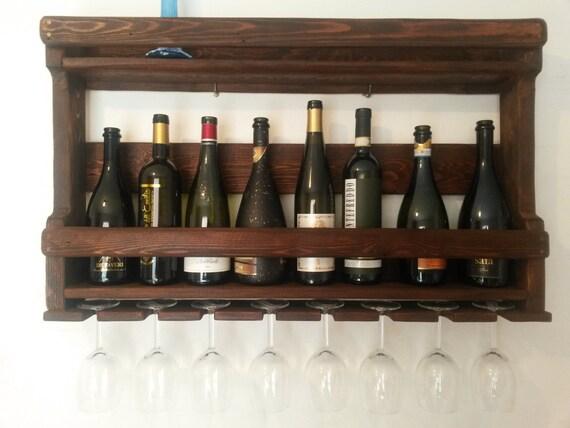 Mobile cantinetta pallet porta bottiglie e porta calici 8 for Mobile porta bottiglie