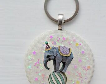 SALE Circus Elephant Resin Keyring/Pendant