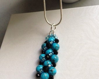 Sale!! Turquoise pendent set ...in Sterling silver!