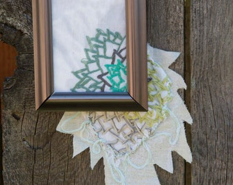 Framed embroidery: flower escape