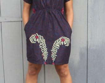 Catepillar Ankara Print Dress