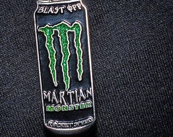 Martian Monster Can pin