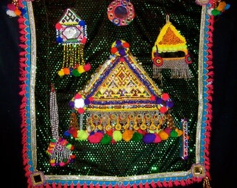 Banjara Gypsy Tribal Hand Made Hanging Altar Original Symbolic Sacred India
