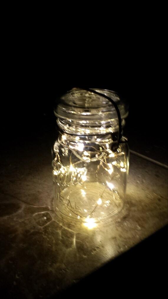 Ball Jar String Lights : Indoor/Outdoor Vintage Mason Jar Fairy String by LoehrHillFarm