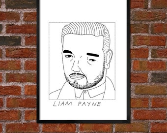 Badly Drawn Liam Payne - One Direction - Poster