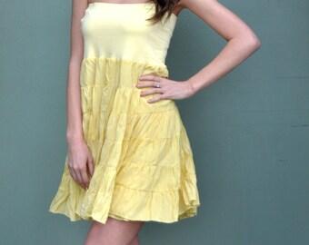 20% off! Loose Strapless Dress / Long Skirt / Maxi Loose Sunny Dress