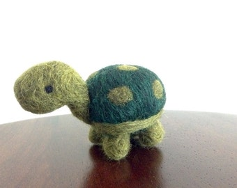 Needle Felted Turtle, Miniature Turtle, Felt Turtle, Wool Felted Animal, Turtle Gifts, Plush Turtle, Tiny Felt Animal, Felted Tortoise