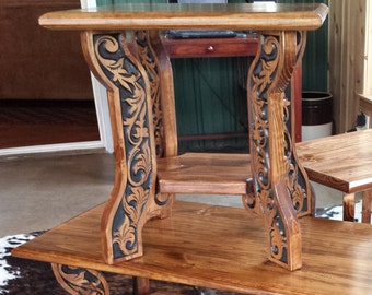 Western Style End Table
