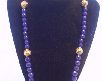 Blue Quartz Necklace - 46