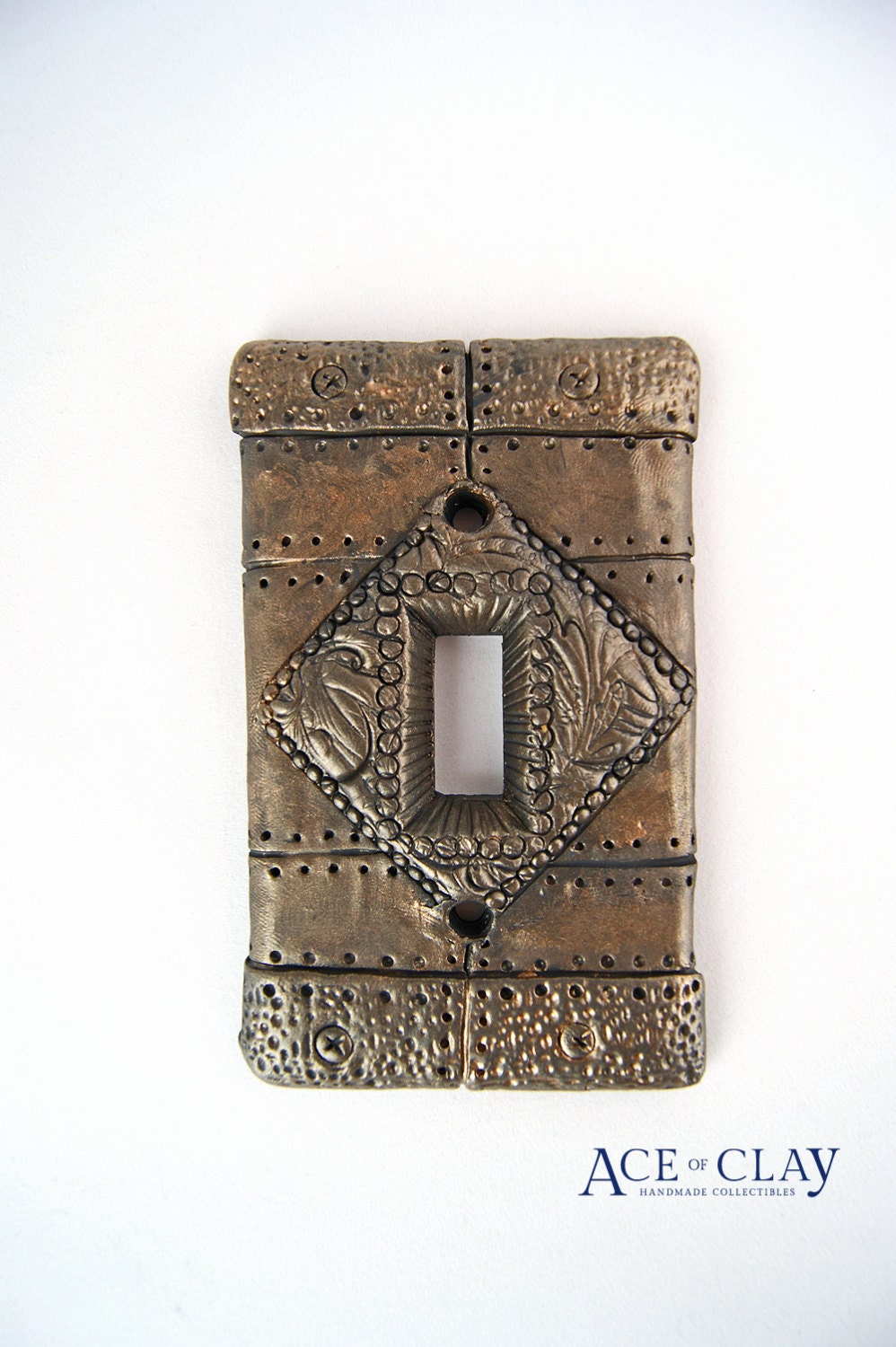 Steampunk Light Switch Cover Wall Art Sculpture By Aceofclay