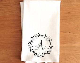 Unique monogram tea towel related items Etsy