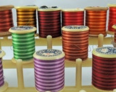 15 Variegated Spools of Sewing Thread for Seamstresses, Crafters  #102