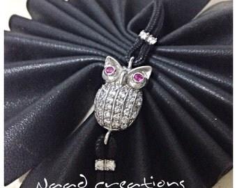 Silver bracelet with OWL
