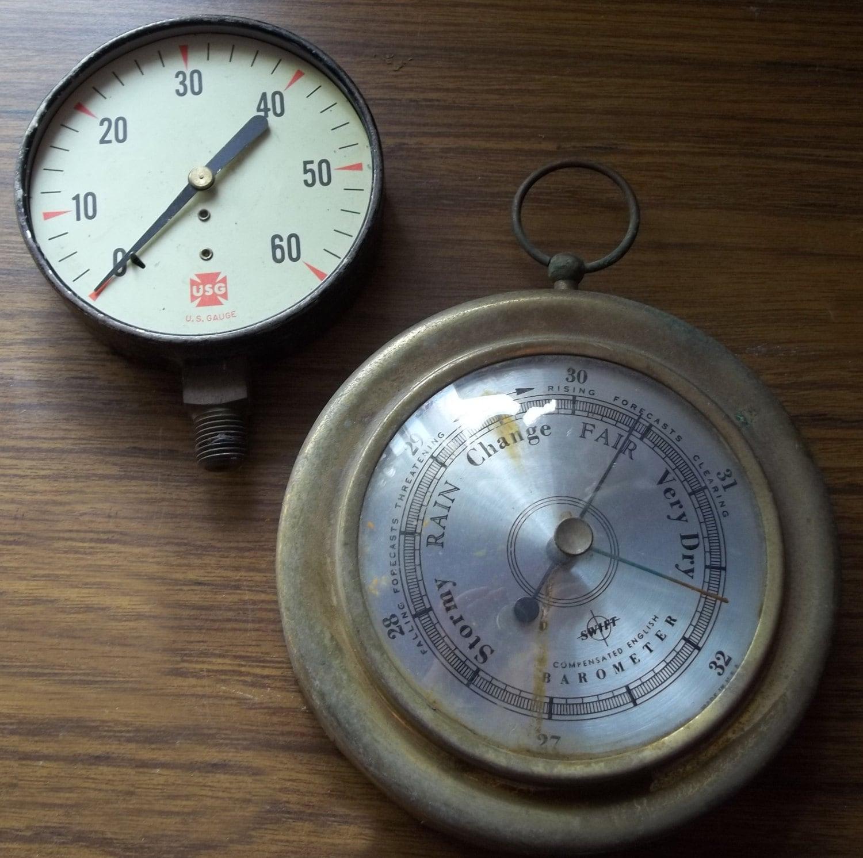 Barometer and pressure gauge steampunk supplies by dsdreams - Steampunk pressure gauge ...