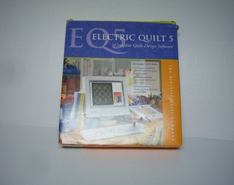 E Q 5 Electric Quilt 5, Complete Design Software and Books, 2002 Software, Complete in Box, Used?, Made In USA