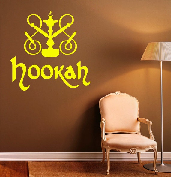 Hookah Wall Decal Vinyl Stickers Relax Arabic Home Interior