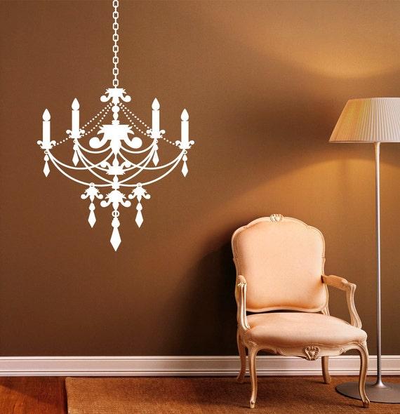Chandelier Wall Decal Vinyl Stickers Modern Interior Home