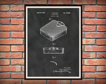 Patent 1938 Bathroom Scale - Art Print - Bathroom Wall Art - Lavatory - Wash Room Toiletry- Poster Print - Wall Art - Body Weight Scale
