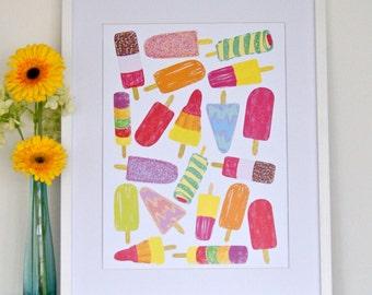 Lollipops Print