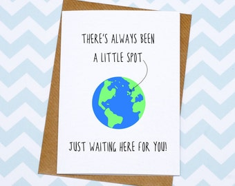 New Baby Card - Different Baby Card - Gender Neutral - Non Cheesy Baby Card - Little Spot