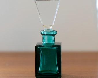 Vintage Perfume Bottle, Golden Crown E&R Genuine Crystal
