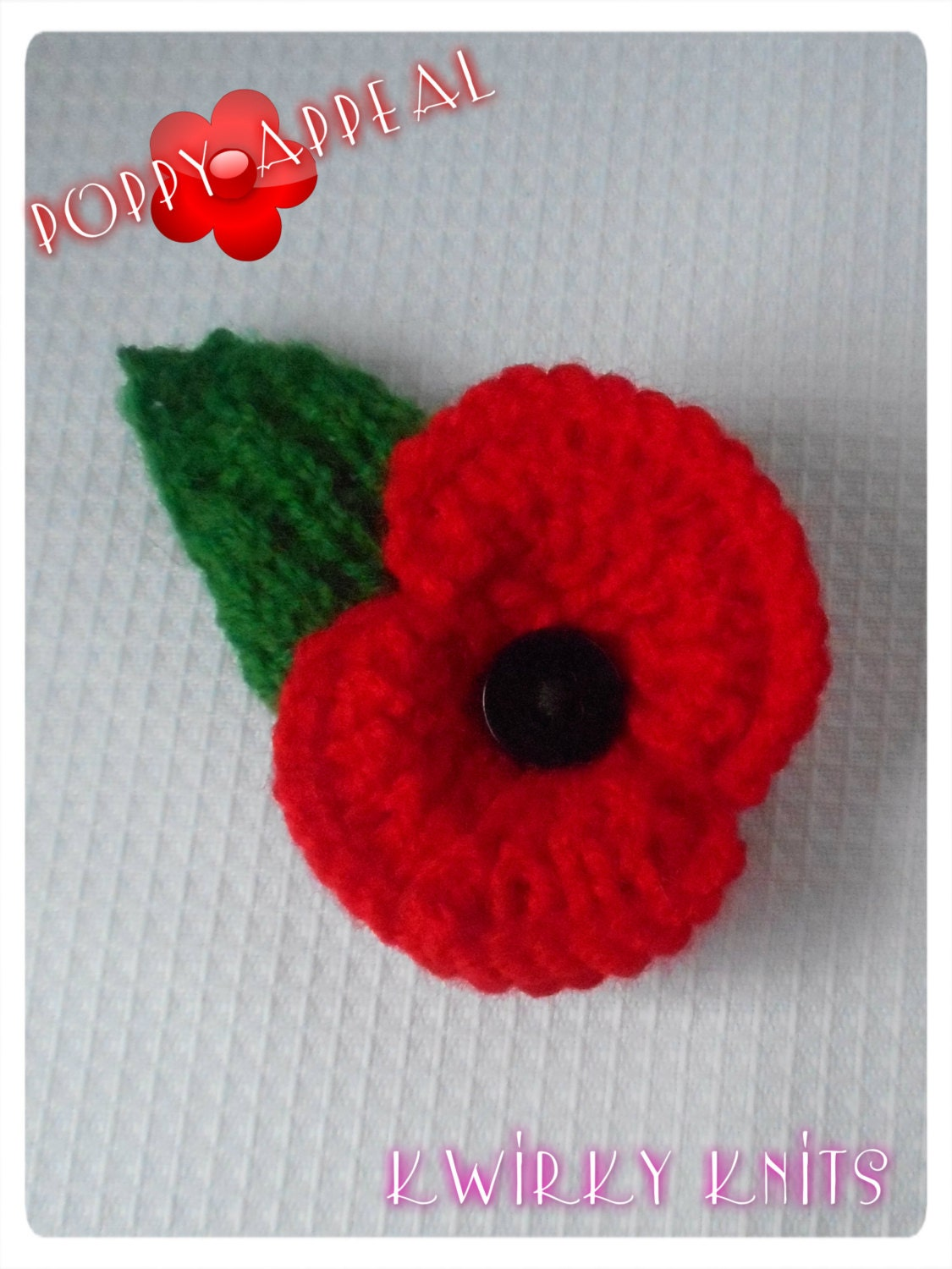 Knitting Pattern For Poppy Brooch : Item Details
