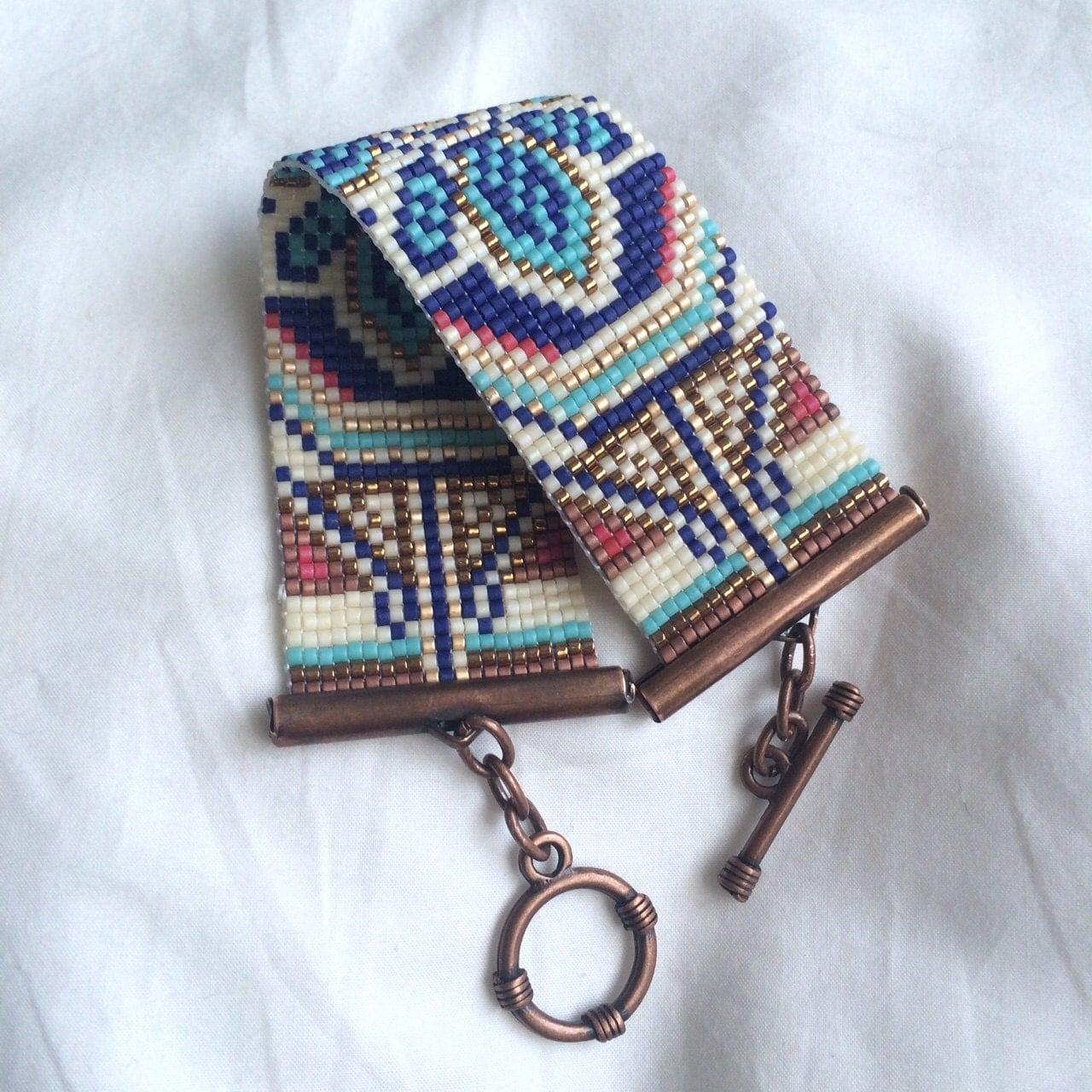 beaded bracelet seed bead bracelet loom bracelet beaded
