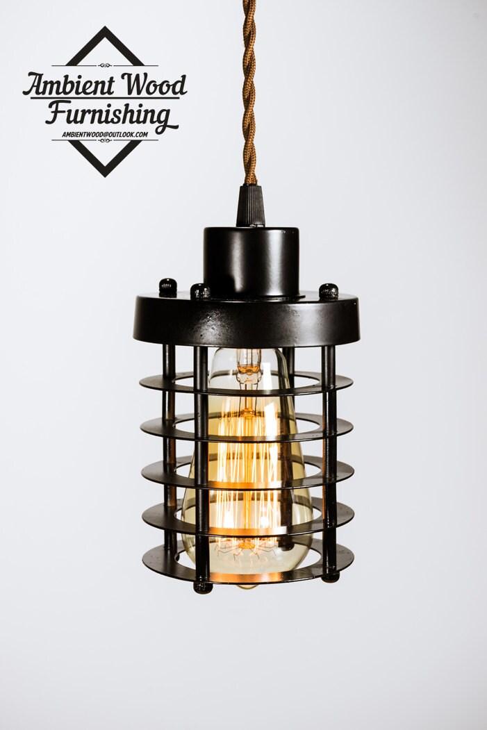 finest metal cage pendant light