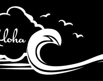 Hawaii aloha sticker