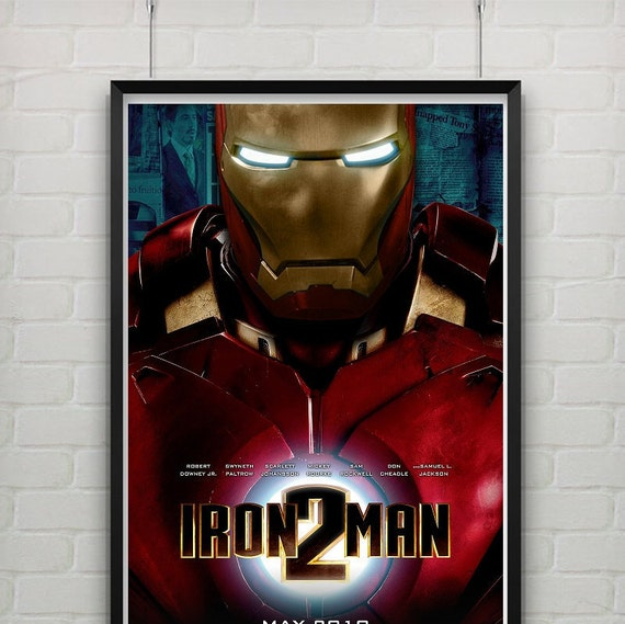 iron man 2 home decor original poster by alltheposters on etsy