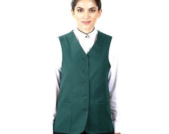 Women's Hunter Green Full Back Tunic Vest