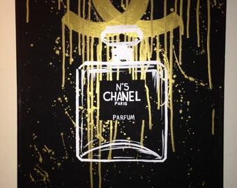 ON SALE Chanel Number 5 / Painting / Canvas / Art / Home Decor / Perfume / coco chanel