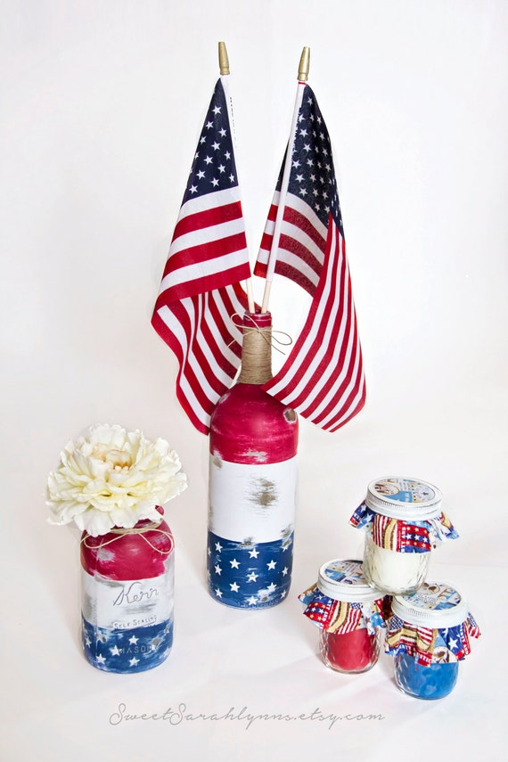 Items similar to american flag decor set memorial day Stars and stripes home decor
