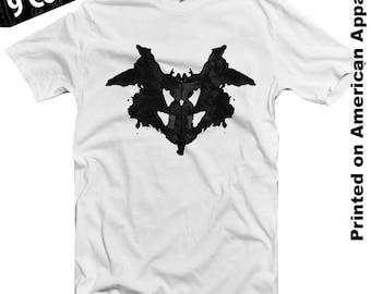 Rorschach Test American Apparel T-shirt S-XXL Psychology, Enlightenment, Science, Watchmen, Cool Gift