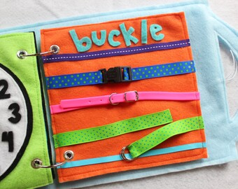"""Quiet Book Page- """"Buckle the Belts"""" - Single Page to Expand Your Personalized Quiet Book"""