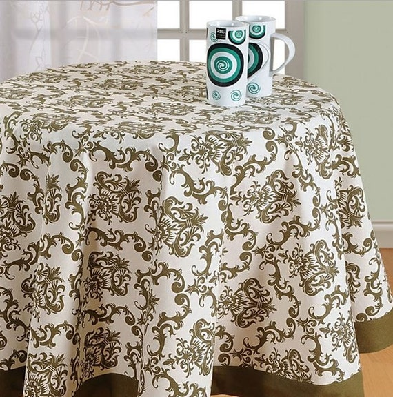 Round table cloth 60 72 90 inch round by Exotichomedecor ...