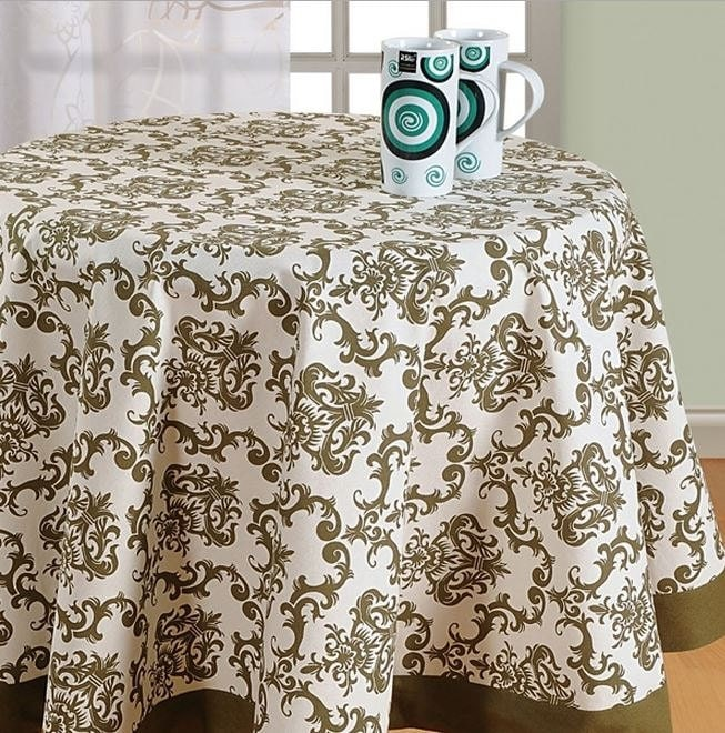 round table cloth 60 72 90 inch round by exotichomedecor on etsy. Black Bedroom Furniture Sets. Home Design Ideas