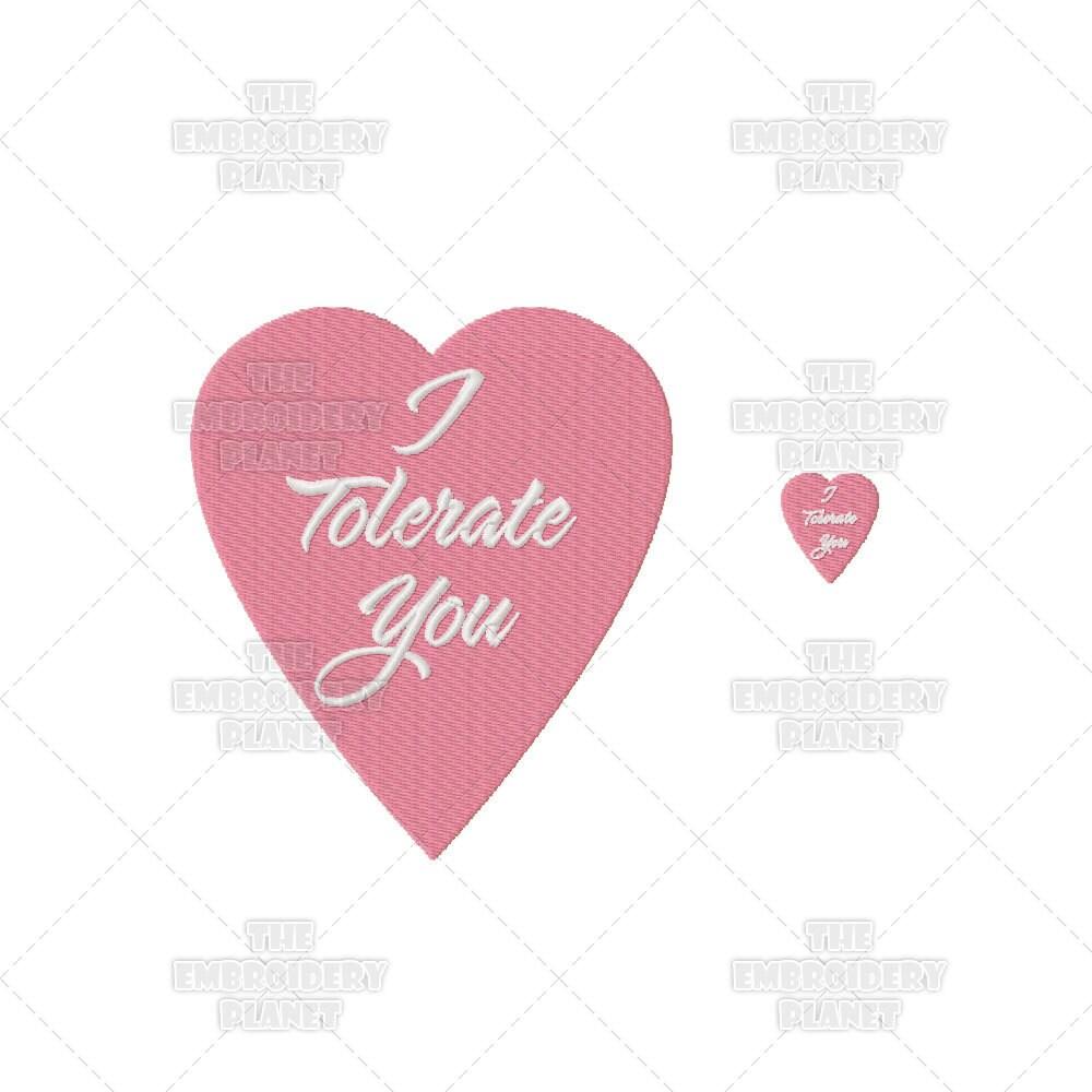 Valentines i tolerate you warped sense of humor machine