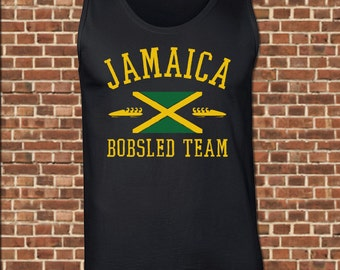 JAMAICA mens Tank Top all sizes available funny cool jamaican bobsled team olympic runnings trial vintage muscle tee UG497