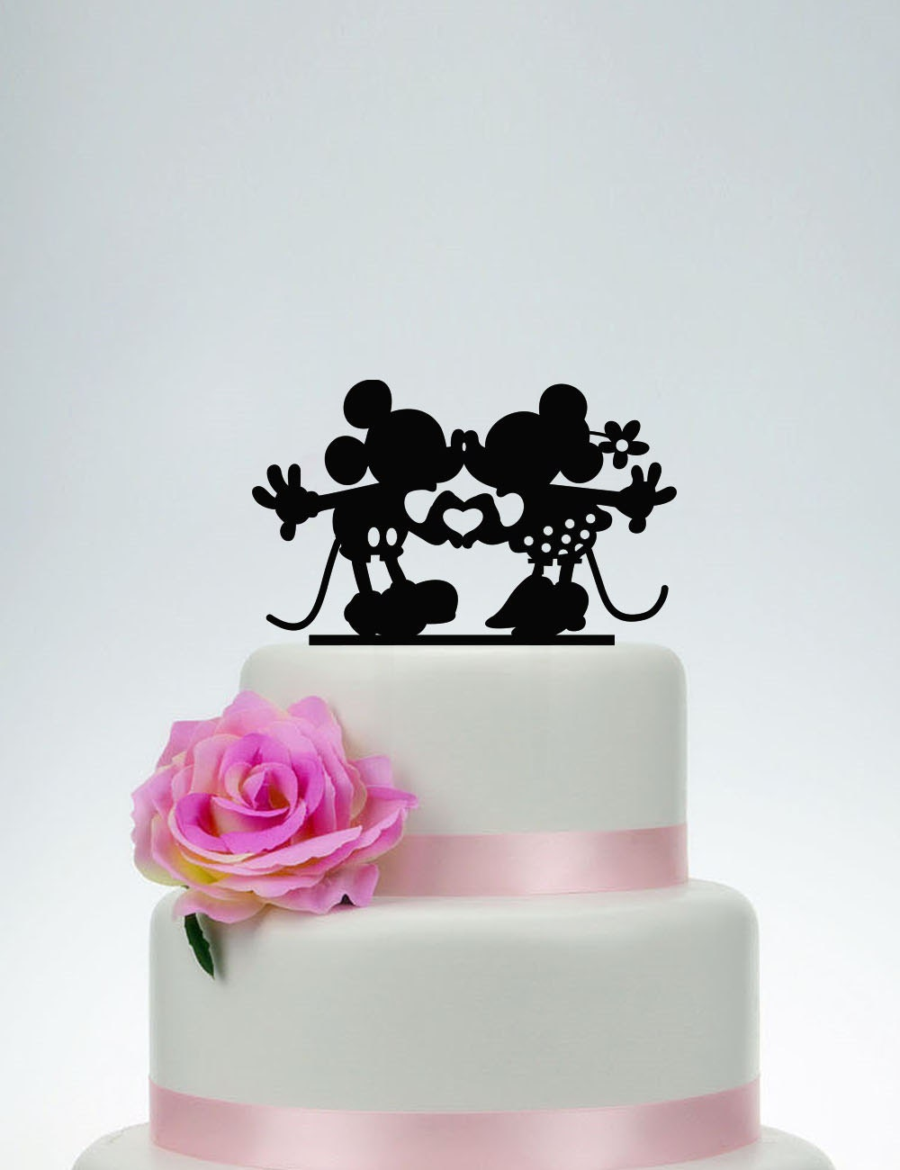 mickey and minnie silhouette wedding cake topper mickey and minnie cake topper wedding cake toppercustom cake 17345