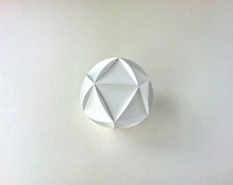 SVG: Icosahedron, cool geometric paper cutting file, 3D diecut project