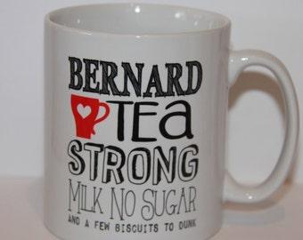 Shmug Personalised fun 'Tea Order' printed mug/cup