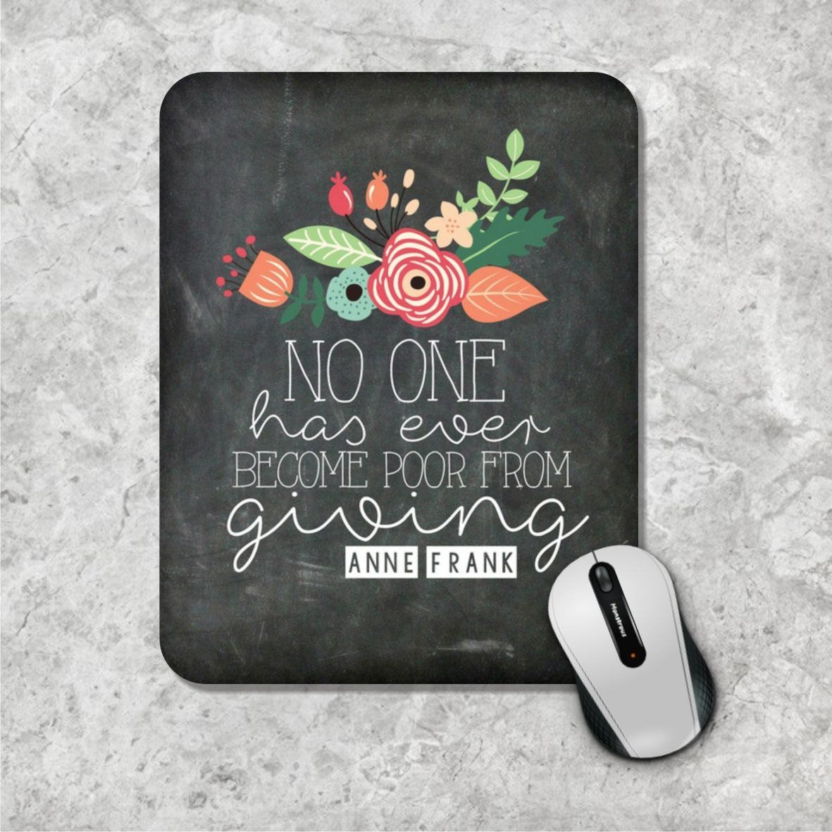 Quote Mousepad Chalkboard Mouse Pad Watercolor Mouse Mat