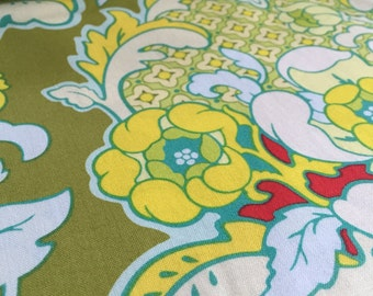 """Pineapple Brocade Celery Heather Bailey Pop Garden Fabric 1yard 32"""""""