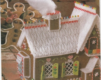 Gingerbread Candy House in Plastic Canvas