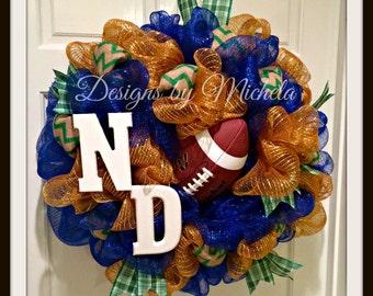 Notre Dame Football Wreath, BR109