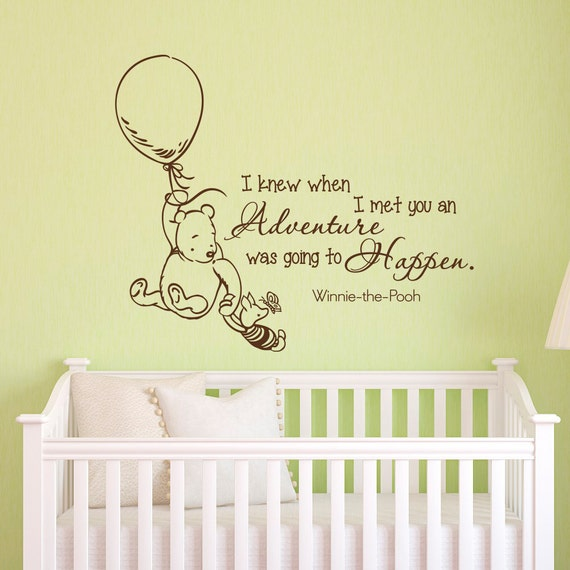 wall decals quotes classic winnie the pooh i knew by fabwalldecals. Black Bedroom Furniture Sets. Home Design Ideas