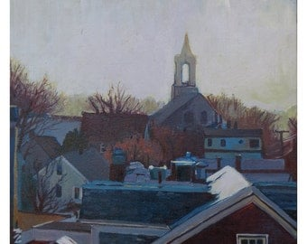 Portsmouth Steeple at Dusk