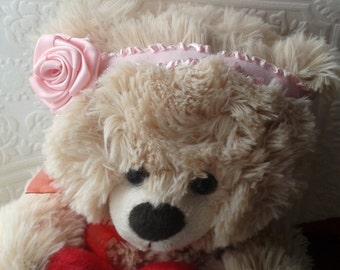 baby rose headband, rose headband, simple baby headband, rose headband, pink headband, baby pink headband,rosy headband, baby rose, headband